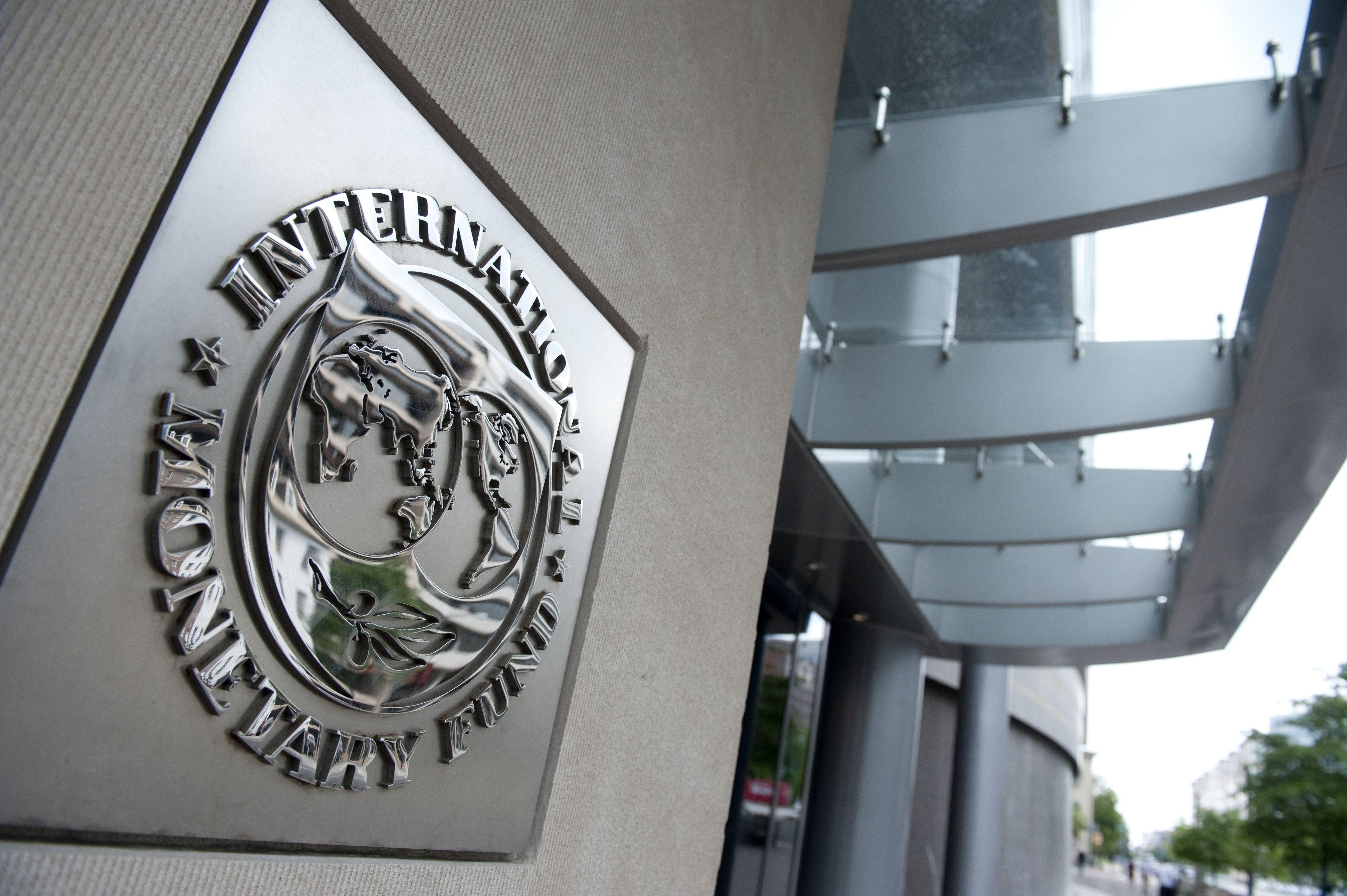 The logo of the International Monetary F